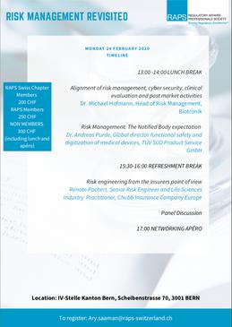 3) raps - ch risk management