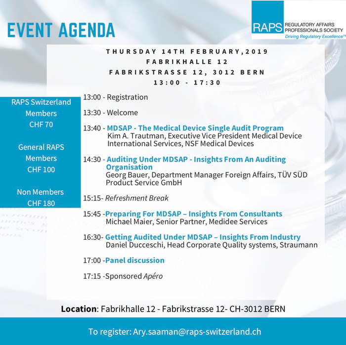 MDSAP Event - Bern - Feb 14, 2019