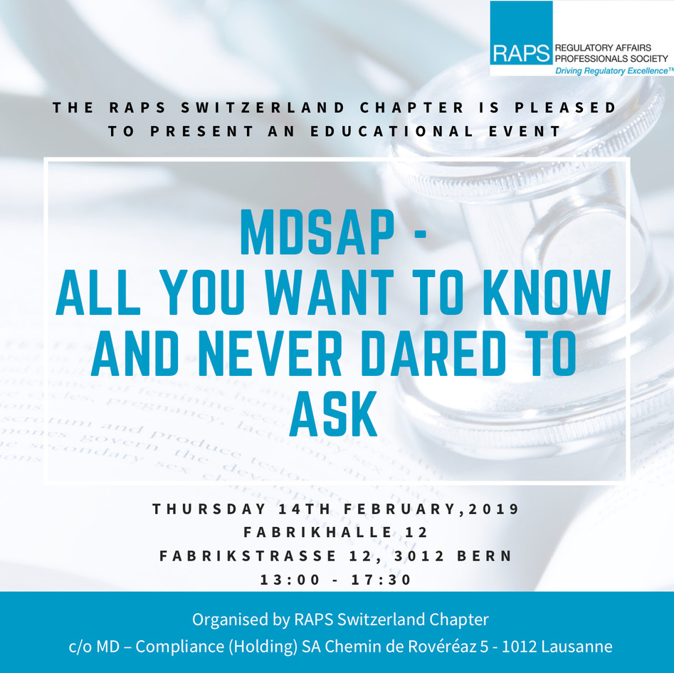 MDSAP Event - Bern - Feb 14, 2019