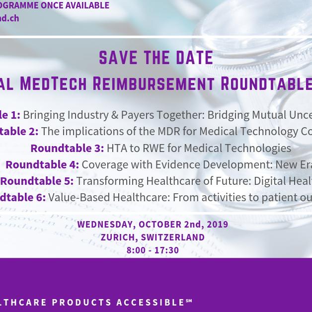 Global MedTech Reimbursement Round Table