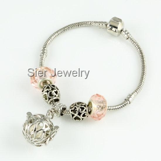 Basket Essential Oil Diffuser Bracelet Locket w/ Lava Stone