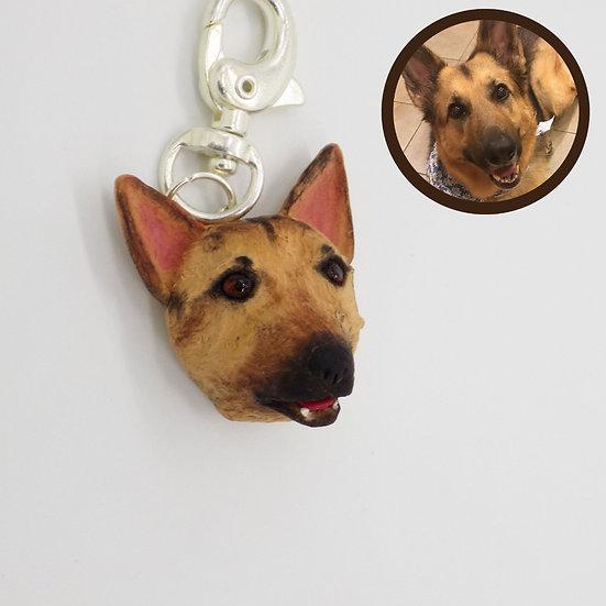 Custom Made Mini Figure Keychain Charm Of Your Pet's Face