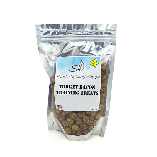 Grain Free Turkey Bacon Training Treats 12oz