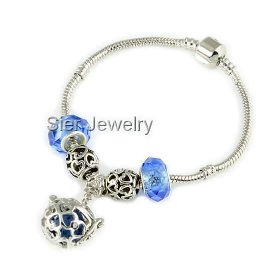 Heart Essential Oil Diffuser Bracelet Locket w/ Lava Stone