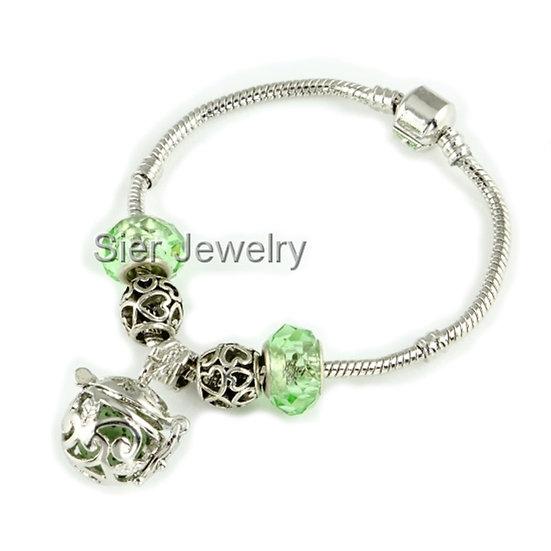 Swirl Essential Oil Diffuser Bracelet Locket w/ Lava Stone