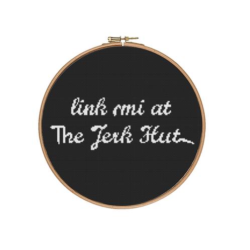 Link mi at The Jerk Hut Cross Stitch Kit