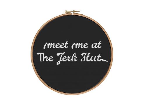 Meet me at The Jerk Hut Cross Stitch Kit