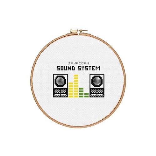 Jamaican Sound System Cross Stitch Kit