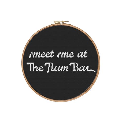 Meet me at The Rum Bar Cross Stitch Kit