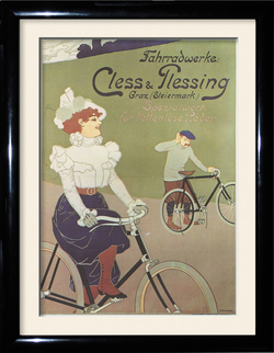 Vintage cycling Bike framed picture