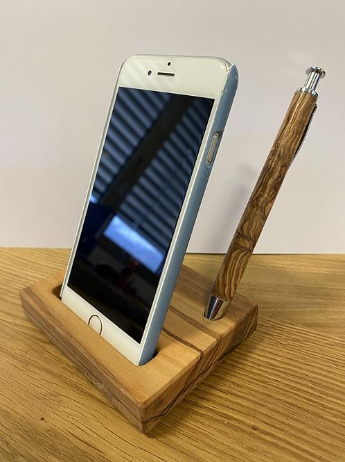 I-Phone Halterung und Kuli
