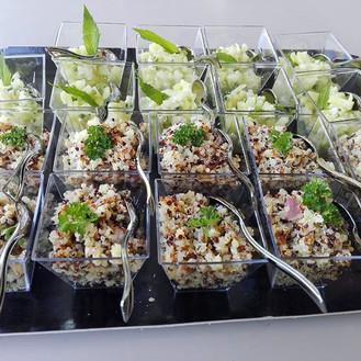 Verrine salade de quinoa aux abricots se
