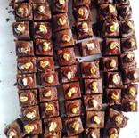 Brownies au noix et aux amandes