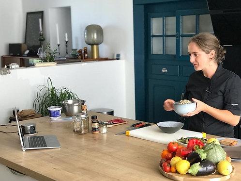 Participation à 3 ateliers de cuisine en visio