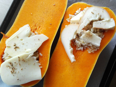 Courge butternut farcie au fromage