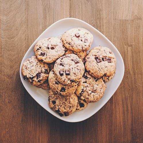 Grand cookie chocolat noir & amandes