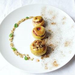 Déclinaison de mini pommes au four. . Au
