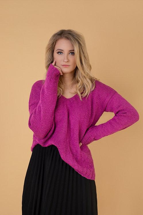 rozinis ruzavas kašmyro vilnos megztinis siltas dovanai dovana nauja naujiena lietuvos dizaineriai
