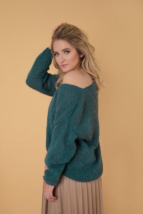 Megztas megztinis moterims vilnos kašmyro Ocdeco