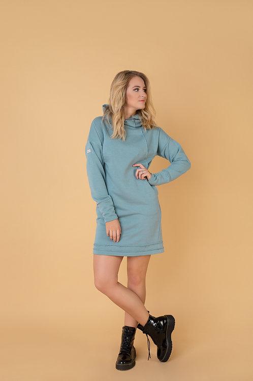 Sportine suknele laisvalaikio suknele trikotazine moterims internetu lietuviska suknele nauja kolekcija suknele su kapisonu