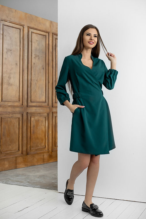 Suknelė - WRAP žalia