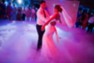 Amazing first wedding dance on heavy smo