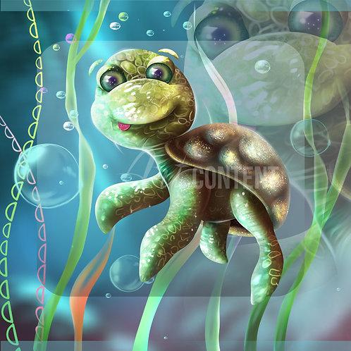 CU/PU SİREN AND FRİENDS Cute Turtle