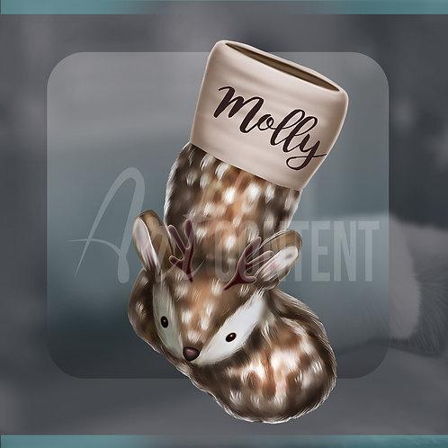 CU/PU Warm christmas Sock