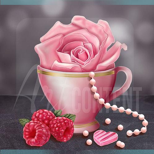 CU/PU Delicate Dream Valentine Cup