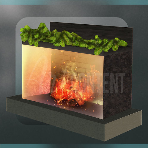 CU/PU Warm Christmas Fireplace