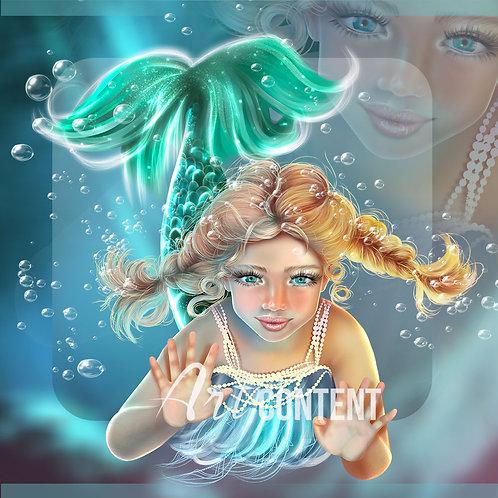 CU/PU SİREN AND FRİENDS Little mermaid