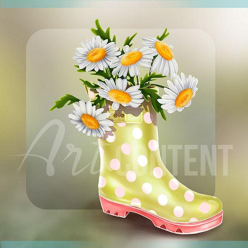 CU/PU MY PRETTY GARDEN Rubber Boot