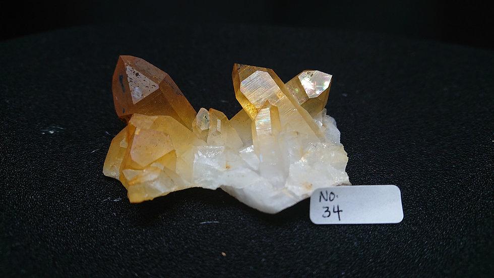 Golden Healer Cluster Crystal No. 34