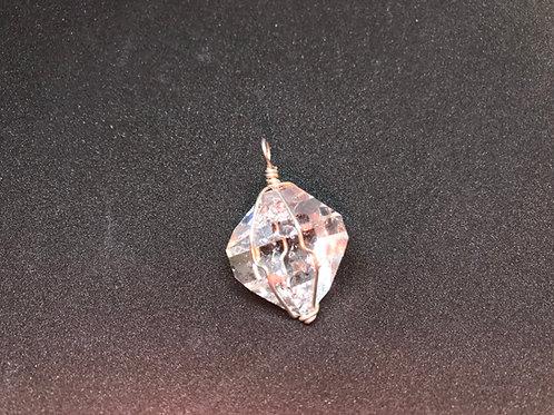 Natural Hekimer Diamond Pendant