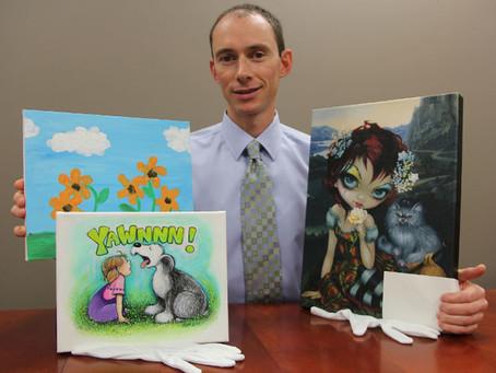 Celebrities on Canvas serves up artwork from cartoonist Lynn Johnston, children's performer Fred