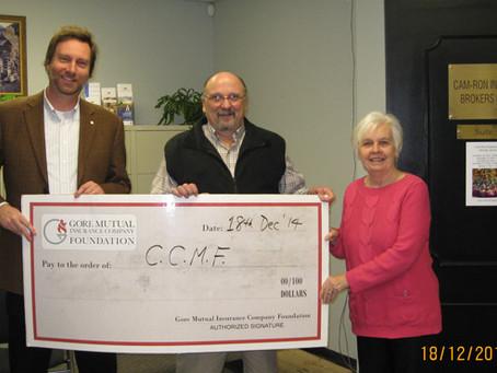 Gore Mutual donates to CCMF