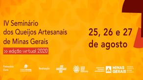 IV Seminário dos Queijos Artesanais ocorreu on line em 2020