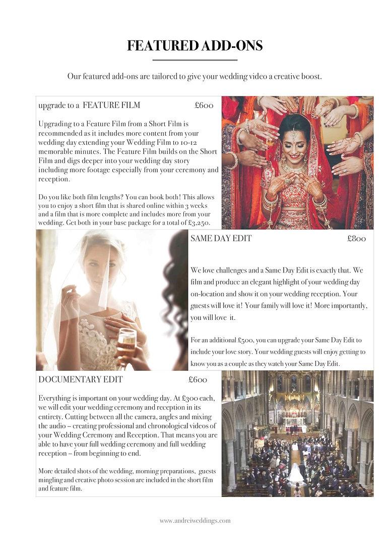 Andrei Weddings Pricing 2019 Brochurep2.