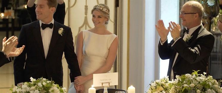 Bride and Groom Claridges