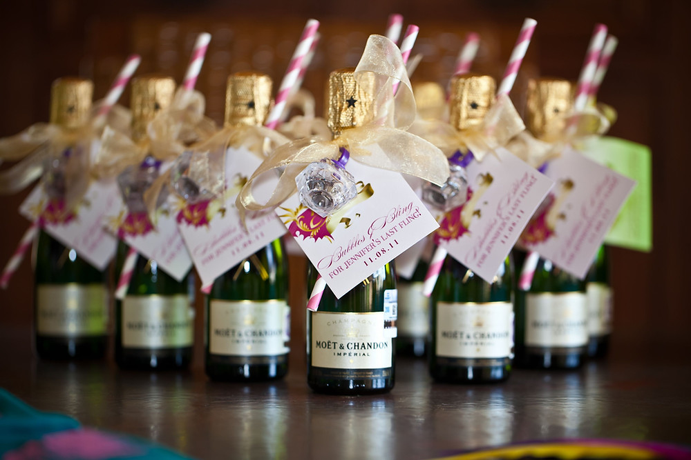 Mini Moet Wedding Favour