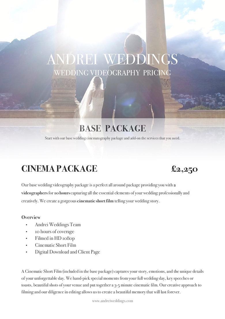 Andrei Weddings Pricing 2019 Brochure.jp