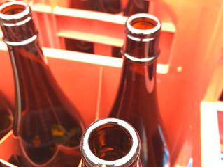 一升瓶(お酒の瓶)はデリケート