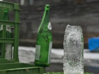アイスキャンドル風の氷