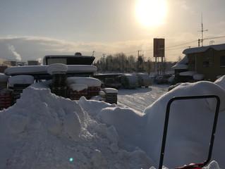 1月19日(土)3回目の雪下ろしです。