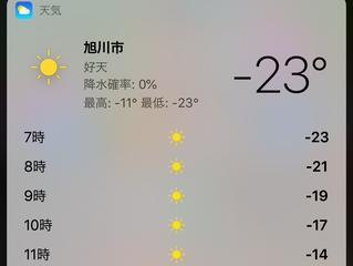 極寒の地、旭川