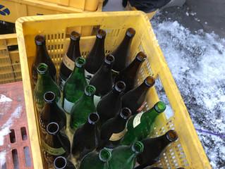 リユース瓶の回収(ウイスキー瓶)
