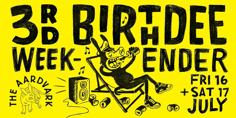 The Aardvark Birthday Weekender Night #1