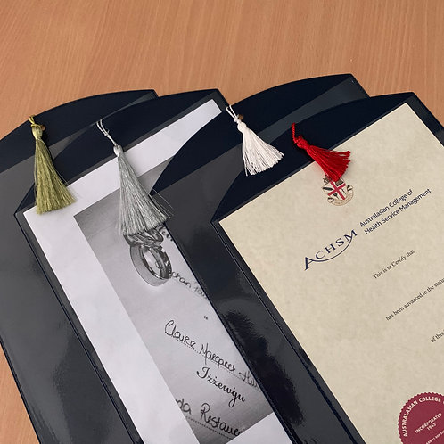 Certificate Display Pockets- from $3 each