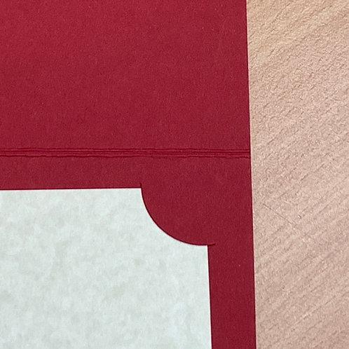 Deep Red Corner Mount Folder- from $2 each