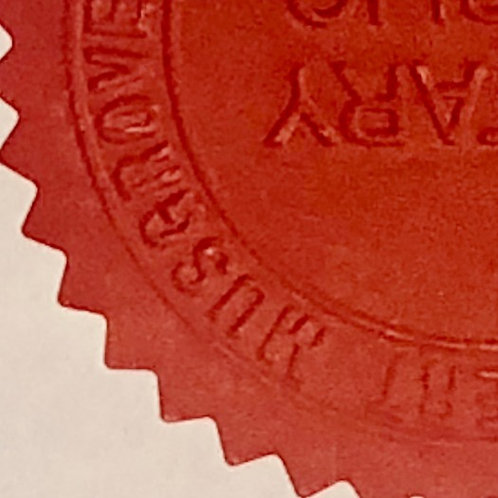 Dull Red Embossed Seal
